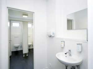 Sanitäre Anlagen im Bürocontainer
