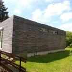 Ferienhaus Container Holzfassade seitlich
