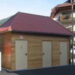 Sanitaercontainer aussen Holz