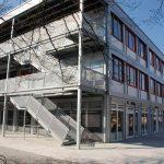 Schulcontainer Treppenhaus